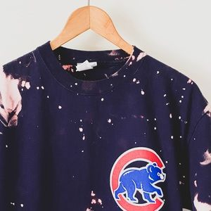 Acid Wash Vintage Chicago Cubs Graphic Tee